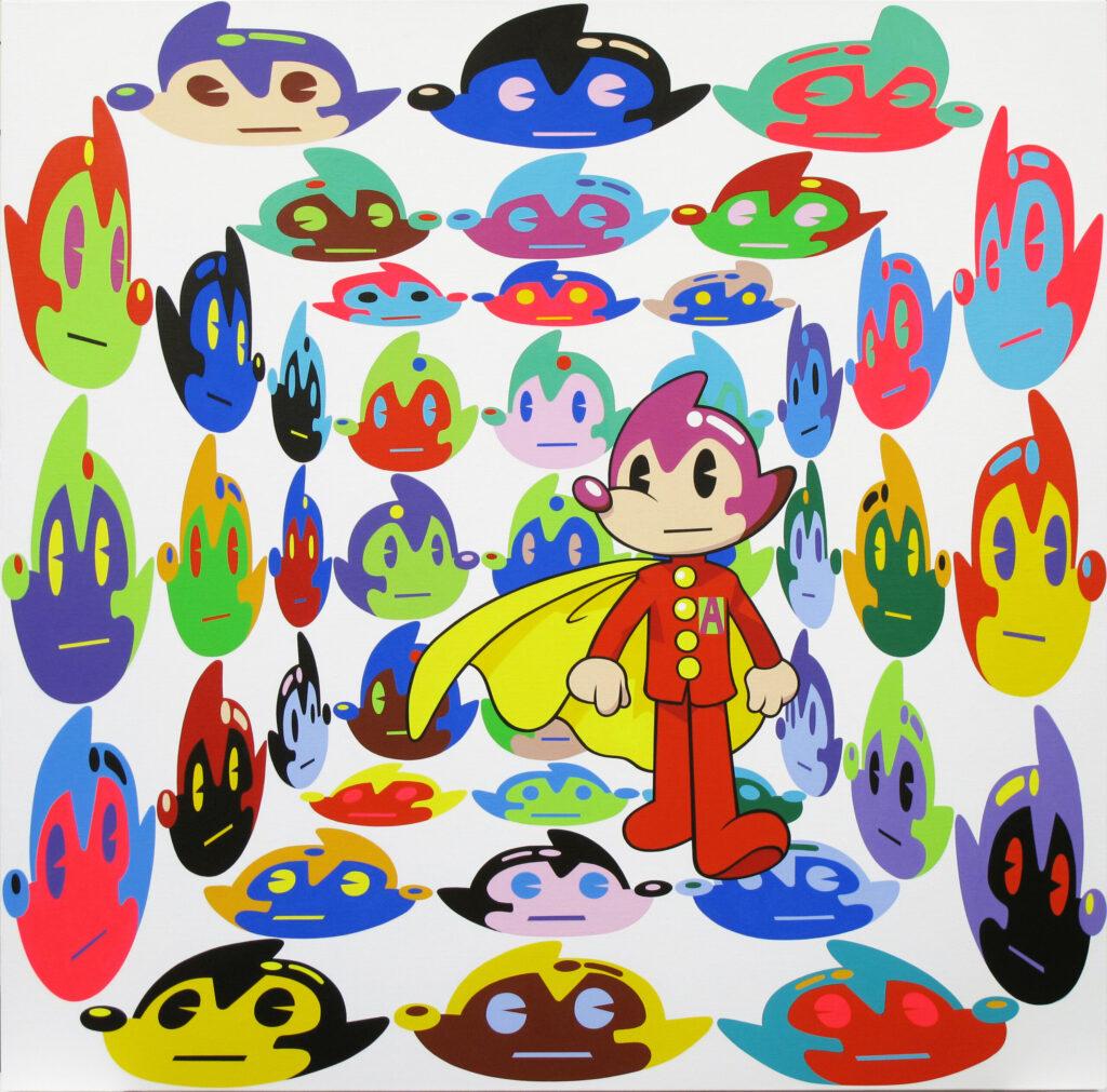 Multi Atomaus Virtual Insanity, 100 x 100 cm, acrylic on canvas