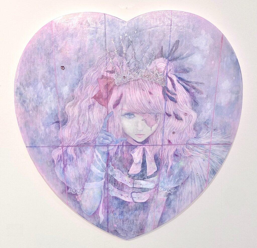 天使を壊して飾ってみたい I want to break an angel and decorate it 2021 50x50 cm oil on canvas
